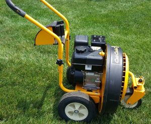 The Cub Cadet JS1150 in use
