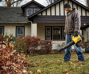 The Dewalt DCBL720P1 in use