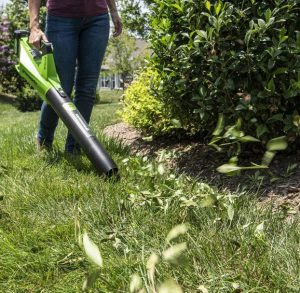 The Greenworks BL24L410 in use