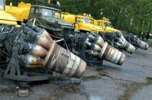 Russian snow blowers made from Mig-15 plane engines