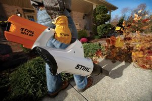 The Stihl BGA 85 in use
