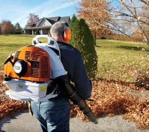 The Stihl BR 430 in use