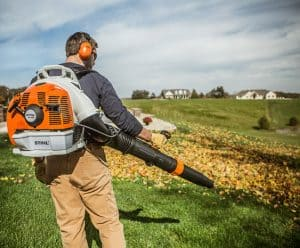 The Stihl BR 450 in use