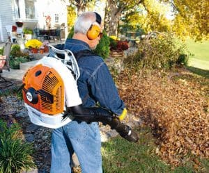 The Stihl BR 500 in use