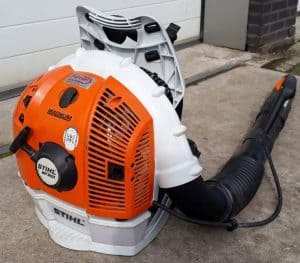 The Stihl BR 600 in use