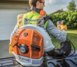 The Stihl BR 700 in use