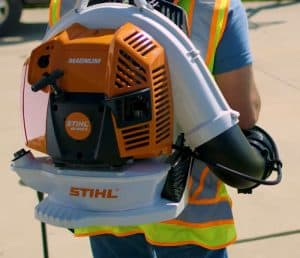 The Stihl BR 800 X MAGNUM® in use