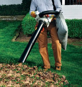 The Stihl SH 56 C-E in use
