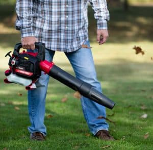 The Troy-Bilt TB400 in use