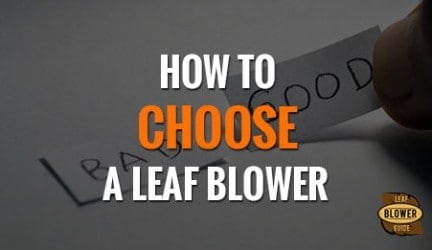 How To Choose A Leaf Blower: Answers In 5 Questions