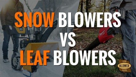 What Is the Difference Between a Snow Blower and a Leaf Blower?